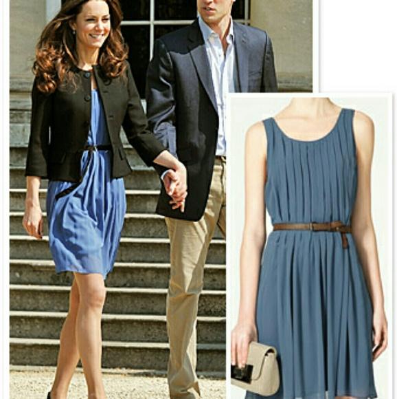 Zara Dresses Blue Dress Aso Kate Middleton Poshmark
